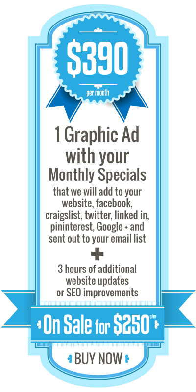 Graphic Ad Monthly Special