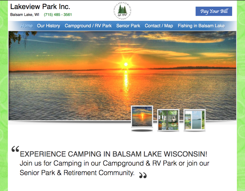 Lakeview Park Inc Balsam Lake Wisconsin